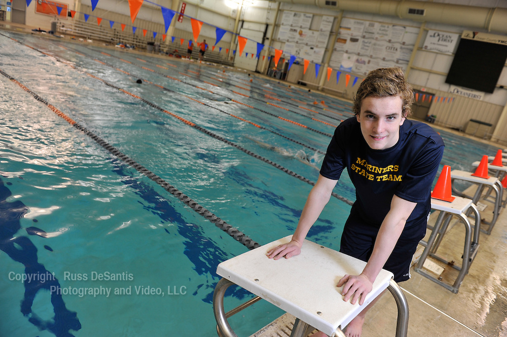 Zack Molloy of Toms River North is the Ocean County Swimmer of the Year. / Russ DeSantis/For The Star Ledger