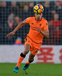 SOUTHAMPTON, ENGLAND - Sunday, February 11, 2018: Liverpool's Trent Alexander-Arnold during the FA Premier League match between Southampton FC and Liverpool FC at St. Mary's Stadium. (Pic by David Rawcliffe/Propaganda)