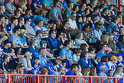 Brighton & Hove Albion FC supporters during the FA Women's Super League match between Brighton and Hove Albion Women and Chelsea at The People's Pension Stadium, Crawley, England on 15 September 2019.