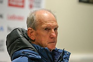 Coach Wayne Bennett of England during a post match press conference at Leigh Sports Village, Leigh<br /> Picture by Steve McCormick/Focus Images Ltd 07545 862647<br /> 17/10/2018