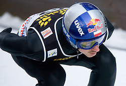 Adam Malysz of Poland competes during Trial round of the FIS Ski Jumping World Cup event of the 58th Four Hills ski jumping tournament, on January 5, 2010 in Bischofshofen, Austria. (Photo by Vid Ponikvar / Sportida)