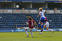 Football - 2018 / 2019 SSE Women's FA Cup - Semi Final: Reading FC Women vs. West Ham United Women<br /> <br /> Reading's  Rachel Furness climbs highest to head Reading into the lead at Adams Park <br /> <br /> COLORSPORT/SHAUN BOGGUST