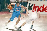 DESCRIZIONE: BORMIO AMICHEVOLE PREPARAZIONE EUROPEI 2005<br /> GIOCATORE: GIANMARCO POZZECCO<br /> SQUADRA: ITALIA NAZIONALE<br /> EVENTO: AMICHEVOLE PREPARAZIONE EUROPEI 2005<br /> GARA: ITALIA-GEORGIA<br /> DATA: 06/08/2005<br /> AUTORE: AGENZIA CIAMILLO &amp; CASTORIA/Stefano Ceretti