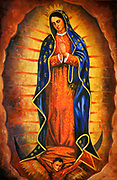 Image of Our Lady of Guadalupe at mission church on the Gila River Indian Reservation in Arizona. (Nancy Wiechec Photography)