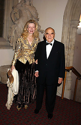 LORD & LADY WEIDENFELD at a dinner to announce the 2005 Man Booker Prize held at The Guilhall, City of London on 10th October 2005.<br />