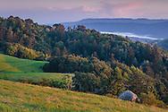 Green hills in spring, Russian Ridge Open Space Preserve, Santa Cruz Mountains, San Mateo County, California