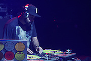 September 22, 2012- Los Angeles, CA:  DJ Nu-Mark performs at the Lyricist Lounge 20th Year Reunion Party-Los Angeles held at Club Nokia at LA Live on September 22, 2012 in Los Angeles, California. The Lyricist Lounge is a hip hop showcase of rappers, emcees, DJ's, and Graffiti artists. It was founded in 1991 by hip hop aficionados Danny Castro and Anthony Marshall. It was a series of open mic events hosted in a small studio apartment in the Lower East Side section of New York City. (Terrence Jennings)