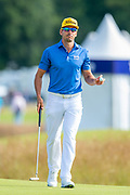 Rafa Cabrera Bello (ESP) on the 11th green during the final round of the Aberdeen Standard Investments Scottish Open at The Renaissance Club, North Berwick, Scotland on 14 July 2019.
