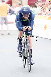 Radsport: 36. Bayern Rundfahrt 2015 / 4. Etappe, Zeitfahren, Hassfurt, 16.05.2015<br /> Cycling: 36th Tour of Bavaria 2015 / Stage 4, <br /> time trial, Hassfurt, 16.05.2015<br /> # 32 Dowsett, Alex (GBR, MOVISTAR TEAM)