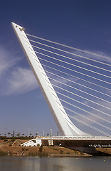 Harp bridge in Seville; Spain