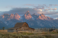 John Moulton Barn on Mormon Row, Grand Teton National Park Wyoming
