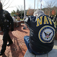 Veterans gathered Saturday morning at Veterans Park for the annual Veterans Day ceremony in Tupelo.