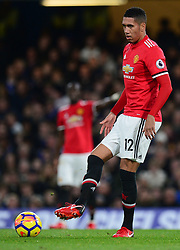 Chris Smalling of Manchester United - Mandatory by-line: Alex James/JMP - 05/11/2017 - FOOTBALL - Stamford Bridge - London, England - Chelsea v Manchester United - Premier League