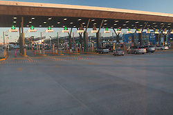 La frontiera di entrata in Messico dagli USA.