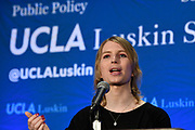 Chelsea Manning was the guest of the UCLA Luskin Center where she spoke about her life and her views. March 5, 2018 in Westwood California.  Photo by John McCoy