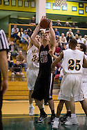 1/6/2006: Bryan Freshwater of the Central Washington Wildcats looks for a shot in the  Central Washington Wildcats 80-60 loss to the University of Alaska-Anchorage Seawolves at the Wells Fargo Sports Complex on the campus of UAA.<br />