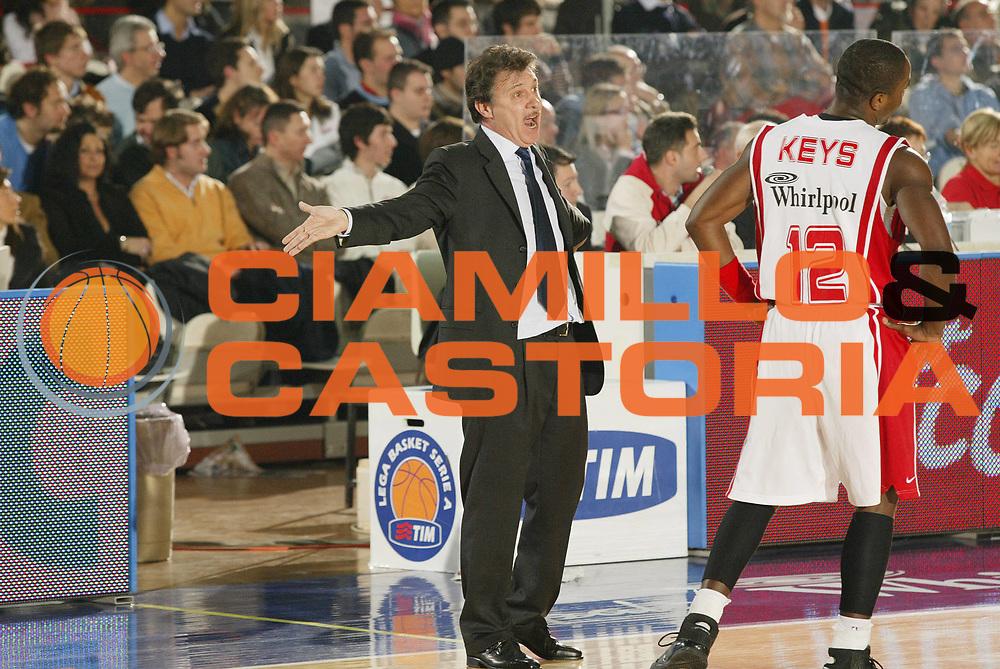 DESCRIZIONE : Varese Lega A1 2006-07 Whirlpool Varese Tdshop.it Livorno<br /> GIOCATORE : Magnano Keys<br /> SQUADRA : Whirlpool Varese<br /> EVENTO : Campionato Lega A1 2006-2007 <br /> GARA : Whirlpool Varese Tdshop.it Livorno<br /> DATA : 17/12/2006 <br /> CATEGORIA : Ritratto Delusione Curiosita<br /> SPORT : Pallacanestro <br /> AUTORE : Agenzia Ciamillo-Castoria/G.Cottini