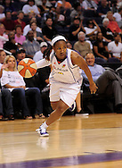 Aug 26, 2010; Phoenix, AZ, USA; Phoenix Mercury guard Temeka Johnson (2) drives the ball against the San Antonio Silver Stars during the first half in game one of the western conference semi-finals in the 2010 WNBA Playoffs at US Airways Center.  Mandatory Credit: Jennifer Stewart-US PRESSWIRE