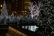 Seanonal lights in Mid-Town Manhattan along Sixth Avenue