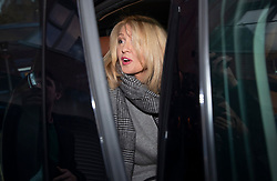 © Licensed to London News Pictures. 15/11/2018. London, UK. Pensions Secretary Esther McVey leaves home by car. Prime Minister Theresa May will make a statement to MPs in Parliament on the EU withdrawal agreement today after cabinet agreed on the proposal. Photo credit: Peter Macdiarmid/LNP