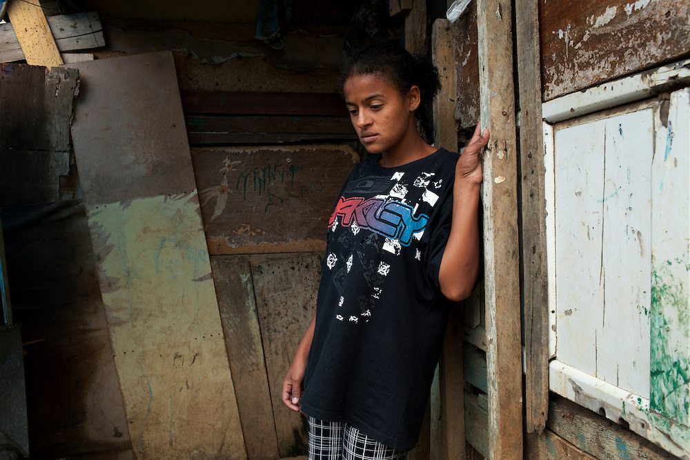 CASE. Bruna, 16. Bruna lost her 10 month old daughter a year ago. She was given a drug she was allergic to by the doctor who ahs admitted he was at fault. Bruna lives on the hill in a favela in horrible conditions. Associated case study: Carla. Favela São Rafael, Guarulhos, Sap Paulo.
