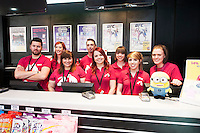 HMV staff at the opening of HMV Galwayat Edward square. Photo:Andrew Downes