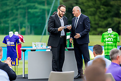 Matej Orazem and Radenko Mijatovic during official draw for Slovenian first football league for season 2018-2019, on June 21, 2018 in Nacionalni nogometni center Brdo pri Kranju, Kranj, Slovenia. Photo by Ziga Zupan / Sportida