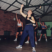 Keep fit class in a gym