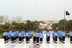 KARACHI, Sept. 6, 2016 (Xinhua) -- Pakistan Air Force cadets stand at the mausoleum of the country's founder Mohammad Ali Jinnah during a ceremony to mark the country's Defense Day in southern Pakistan's Karachi, Sept. 6, 2016. Pakistan's armed forces observed Defense Day on Tuesday to commemorate the day when the country's army fought and succeeded in war against India in 1965 on Lahore, Sialkot and other borders. (Xinhua/Masroor).****Authorized by ytfs* (Credit Image: © Masroor/Xinhua via ZUMA Wire)