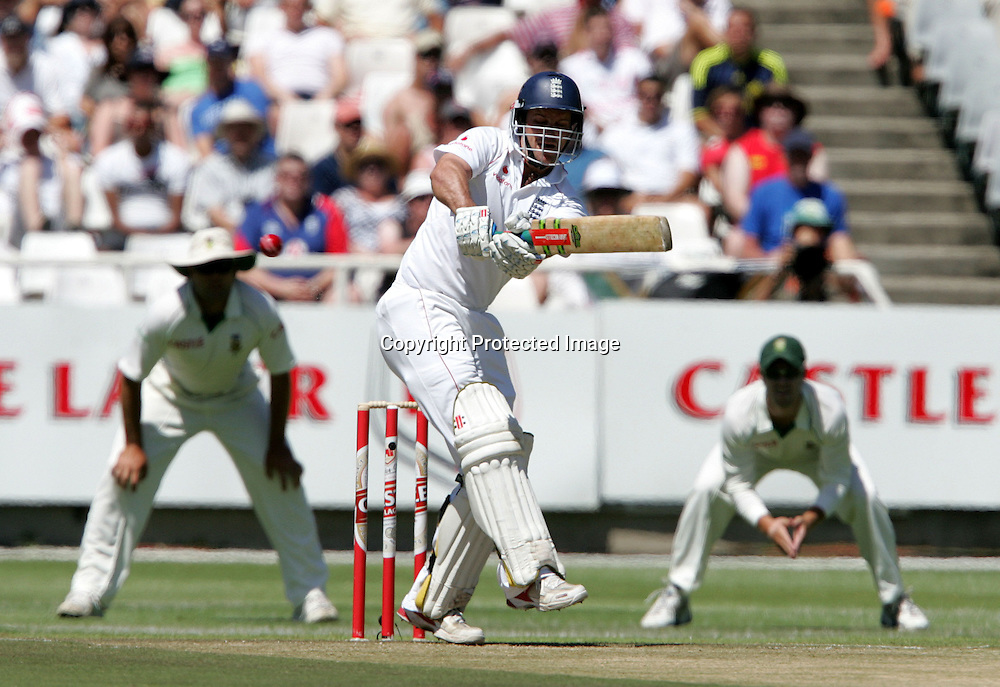 Andrew Strauss batting during the 2nd day of the third test match between South Africa and England held at Newlands Cricket Ground in Cape Town on the 4th January 2010.Photo by: Ron Gaunt/ SPORTZPICS