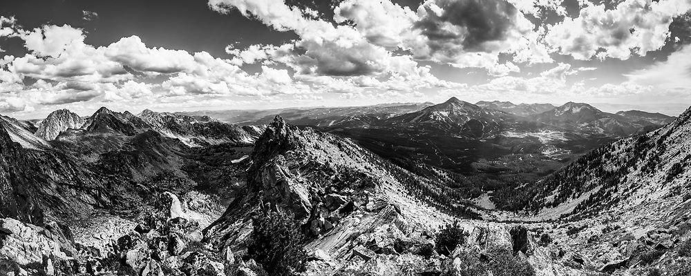 Looking south from the Spanish Peaks at Lone Mountain in Montana.  Limited Edition - 75
