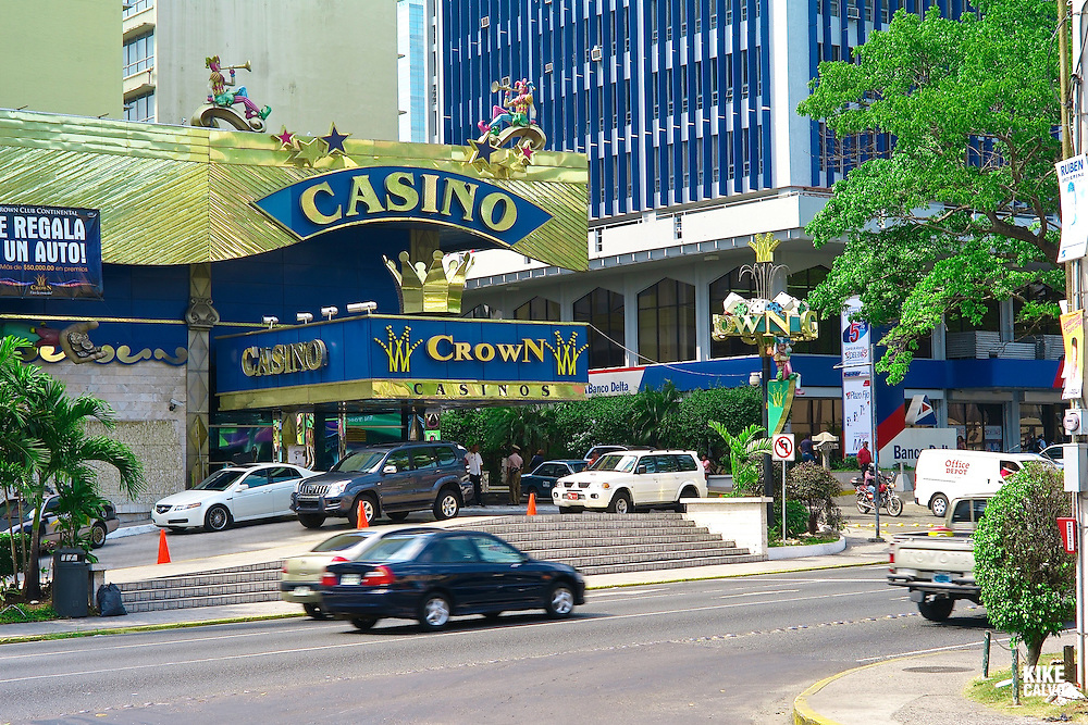 Pictured: Via Espan?a shooping area Street scene. Downtown Panama City. Via Espan?a AvenueCrown Casino,