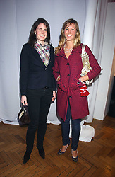 Left to right, LADY LAURA CATHCART and MISS MIMA LOPES sister of Harry Lopes fiance of Laura Parker Bowles at a party to celebrate the centenary of Montblanc held at Lindley Hall, Elverton Street, London SW1 on 9th March 2006.<br />