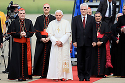 04.06.2011., Zagreb Airport, Zagreb - Papst  Benedict XVI has landed at Zagreb Airport.  President of Croatia Ivo Josipovic and Croatian bishops welcome Papst  Benedict XVI..                                                                                                   Foto ©  nph / PIXSELL       ****** out of GER / SWE / CRO  / BEL ******