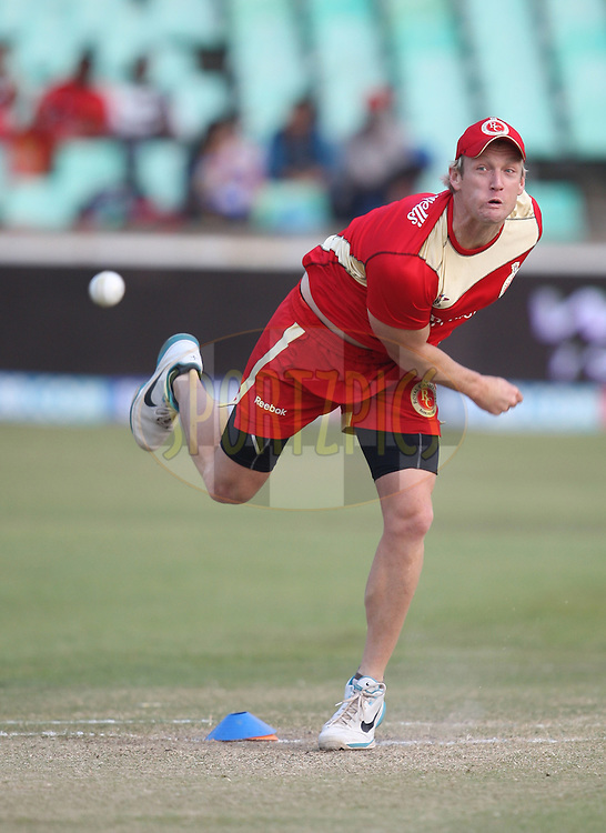 Cameron White  during match 15 of the Airtel CLT20 between The Mumbai Indians and the Royal Challengers Bangalore held at Kingsmead Stadium in Durban on the 19 September 2010..Photo by: Steve Haag/SPORTZPICS/CLT20.