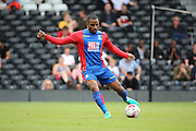 Crystal Palace attacker, Jason Puncheon (42) passing the ball during the Pre-Season Friendly match between Fulham and Crystal Palace at Craven Cottage, London, England on 30 July 2016. Photo by Matthew Redman.