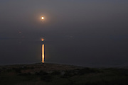 Israel, Dead Sea, Moon risers over the Dead Sea