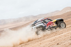 Cyril Despres (FRA) of X-raid MINI JCW Team races during stage 04 of Rally Dakar 2019 from Arequipa to o Tacna, Peru on January 10, 2019 // Marcelo Maragni/Red Bull Content Pool // AP-1Y39E6WF11W11 // Usage for editorial use only // Please go to www.redbullcontentpool.com for further information. //