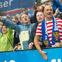 Rosenborg v St Johnstone....18.07.13  UEFA Europa League Qualifier.<br /> St Johnstone fans<br /> Picture by Graeme Hart.<br /> Copyright Perthshire Picture Agency<br /> Tel: 01738 623350  Mobile: 07990 594431
