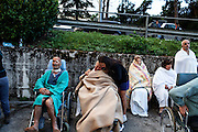24 August 2016, Amatrice Italy - Injured people on a wheelchair outside the hospital after a 6.3 earthquake hit the town of Amatrice in Lazio region killing more than 240 people. Many other towns of the italian central regions have been hit by the quake. There are still many missing people under the rubble.