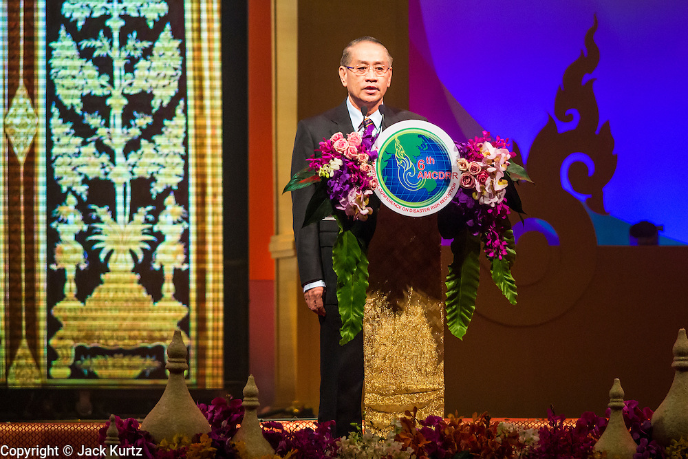 24 JUNE 2014 - BANGKOK, THAILAND: WIBOON SANGUAUNPONG, Permanent Secretary of the Ministry of Interior/Acting Minister of Interior, greets attendees at the 6th Asian Ministerial Conference on Disaster Risk Reduction (AMCDRR). The AMCDRR started in Bangkok on June 24. The first of the biennial conferences was held in Beijing in 2005 after the 2004 Asian Tsunami and H5N1 Bird Flu epidemic of 2004. The conference this year in Bangkok will focus on possible disasters related to climate change, sustainable development, and managing public private partnerships for disaster risk.     PHOTO BY JACK KURTZ