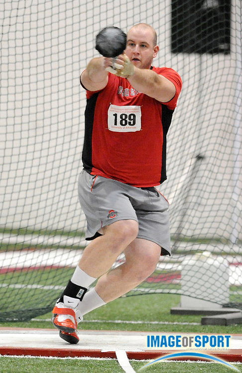 Mar 15, 2008; Fayetteville, AR, USA; Lenny Jatsek of Ohio State was 10th in the weight throw at 68-1 3/4 (20.77m) in the NCAA indoor track and field championships at the Randal Tyson Center.