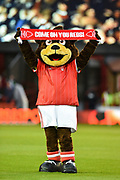 Forest mascot Sherwood during the EFL Sky Bet Championship match between Nottingham Forest and Barnsley at the City Ground, Nottingham, England on 24 April 2018. Picture by Jon Hobley.