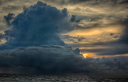 dramatic cloud formation over the ocean at sunrise in Florida