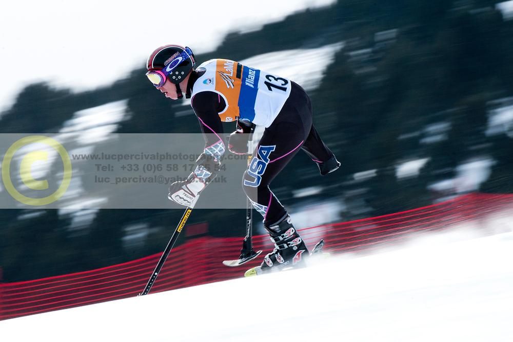 JONES Allison, USA, Super Combined, 2013 IPC Alpine Skiing World Championships, La Molina, Spain