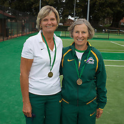 Jan Johns, Australia, (left) and Kerin Tulloch, Australia, Semi Finalists, 60 Womens Doubles during the 2009 ITF Super-Seniors World Team and Individual Championships at Perth, Western Australia, between 2-15th November, 2009.