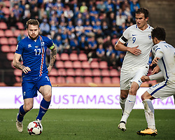 September 2, 2017 - Tampere, Finland - Iceland's Aron Gunnarsson during the FIFA World Cup 2018 Group I football qualification match between Finland and Iceland in Tampere, Finland, on September 2, 2017. (Credit Image: © Antti Yrjonen/NurPhoto via ZUMA Press)
