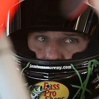 Sprint Cup Series driver Jamie McMurray (1) in his car at Daytona International Speedway on February 18, 2011 in Daytona Beach, Florida. (AP Photo/Alex Menendez)