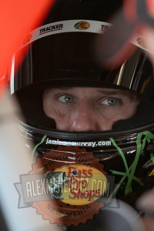 Sprint Cup Series driver Jamie McMurray (1) in his car at Daytona International Speedway on February 18, 2011 in Daytona Beach, Florida. (AP Photo/Alex Menendez)