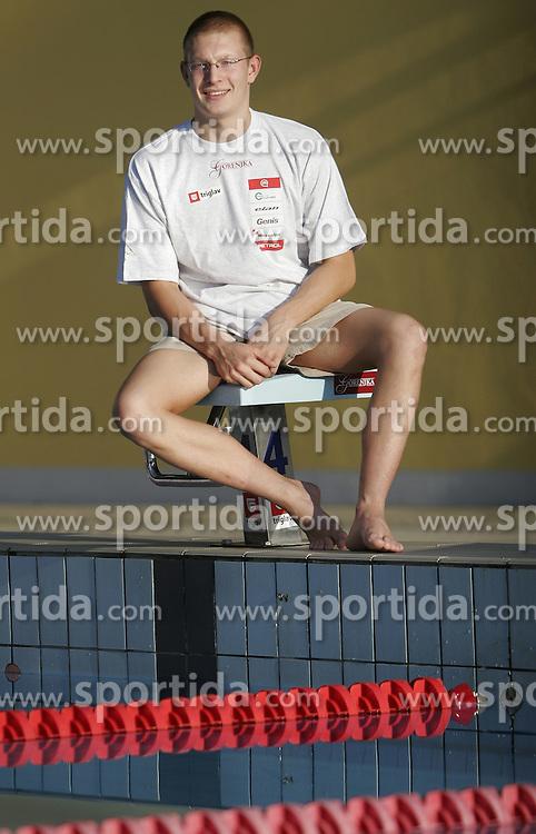 Slovenian swimmer Luka Turk of PK Zito Gorenjka Radovljica, on August 24, 2005, in Radovljica, Slovenia. (Photo by Vid Ponikvar / Sportal Images)..